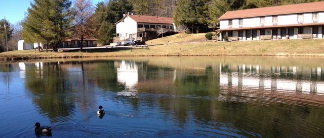 Woodberry Inn Lake in winter